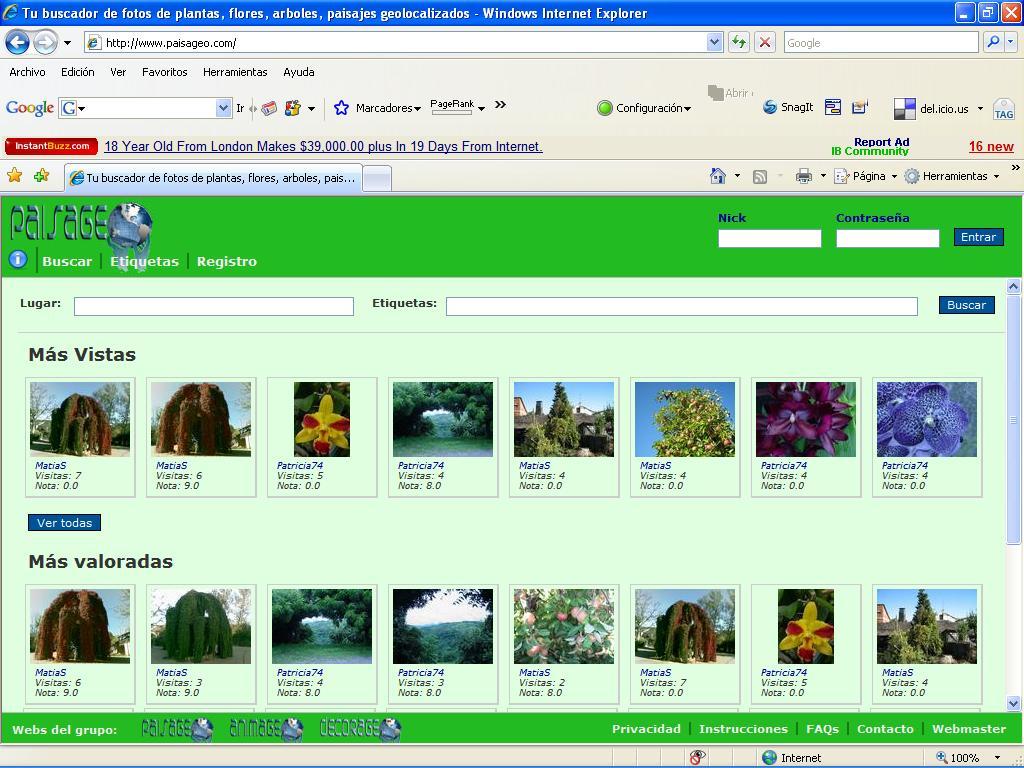Paisageo.com - Tus Plantas y Flores en el Mapa